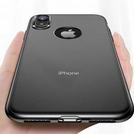 Totu tunna silikonhölje för iPhone XS Max i svart/transparent