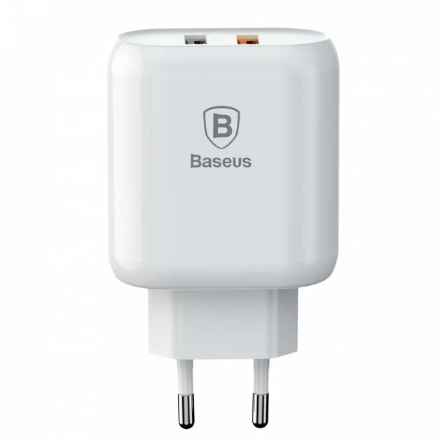 Baseus iPhone/iPad USB oplader QC 2.0 x2 (23W ialt)