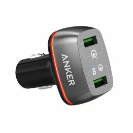 Anker PowerDrive 2 24W 2-Port car charger sort