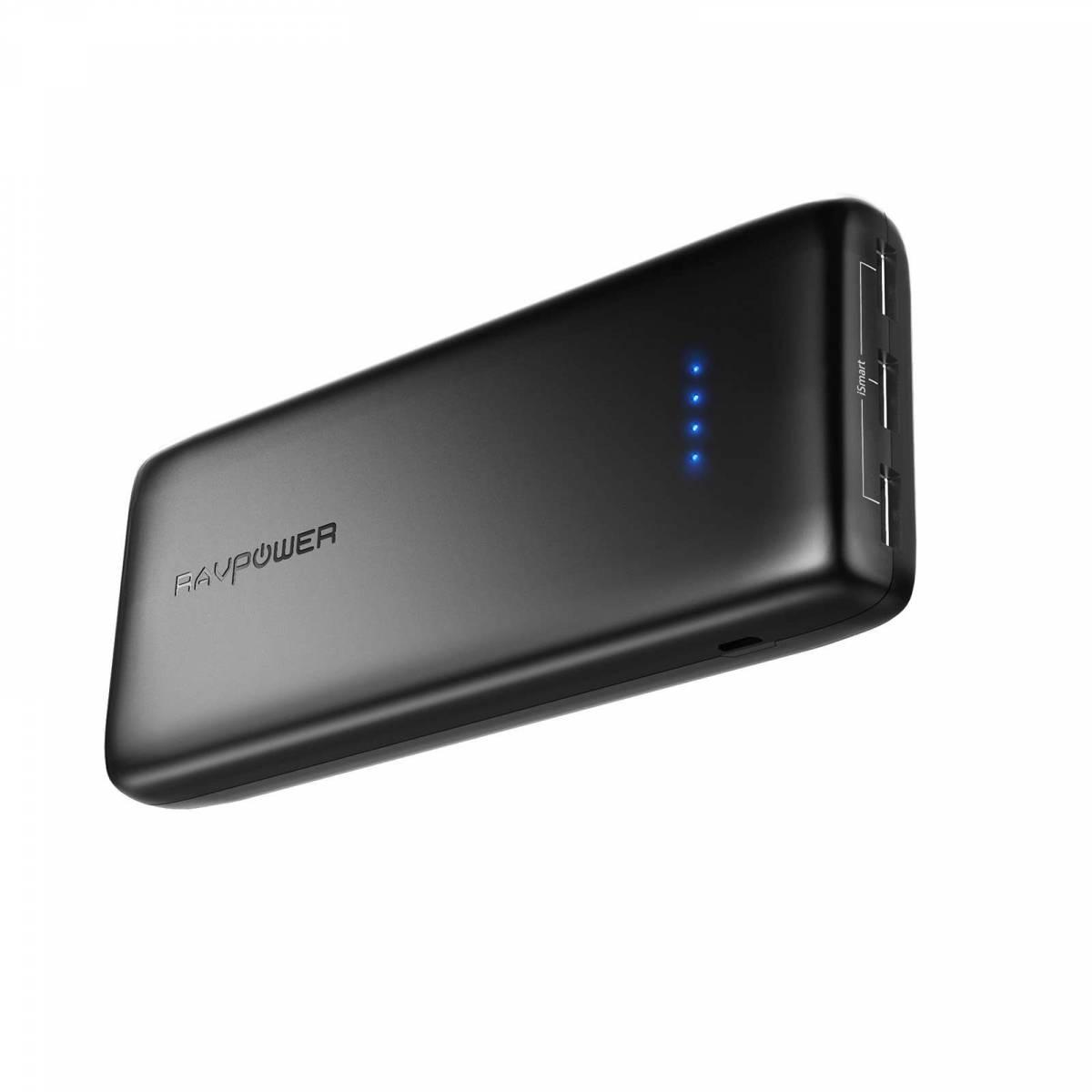 RAVPower ACE 22 000 mAh Power Bank 3x USB för iPhones och