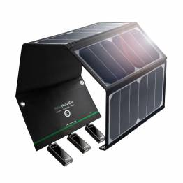 RAVPower Sol oplader 24W Solpanel i Sort