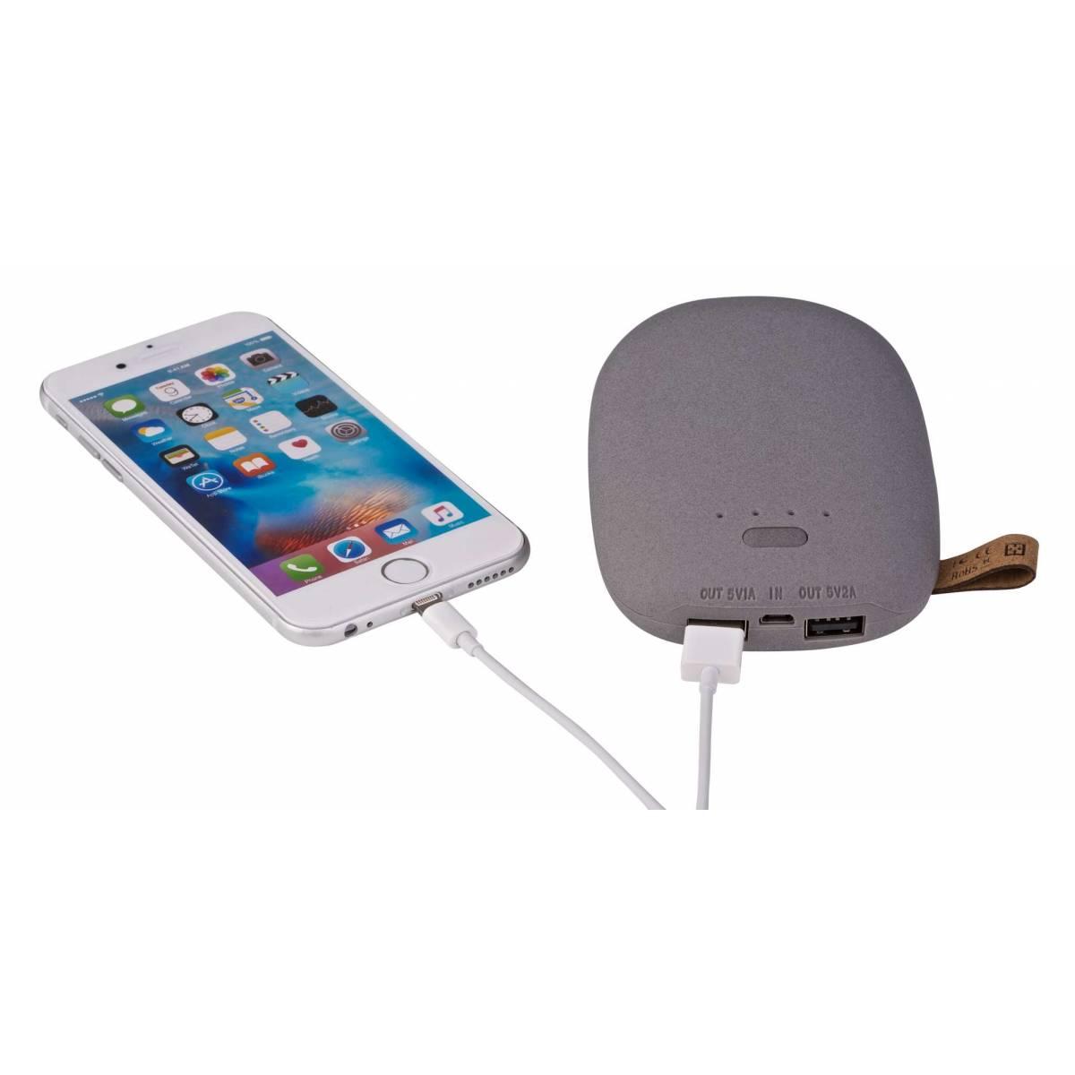 GreyLime Power Stone 10 400 mAh Power Bank, 2xUSB för iPhone