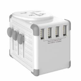 Zikko Worldwide Travel Smart adapter 4 USB-port