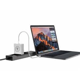 LIFEPOWR 65W USB-C og QC 3.0 oplader Macbook Pro oplader