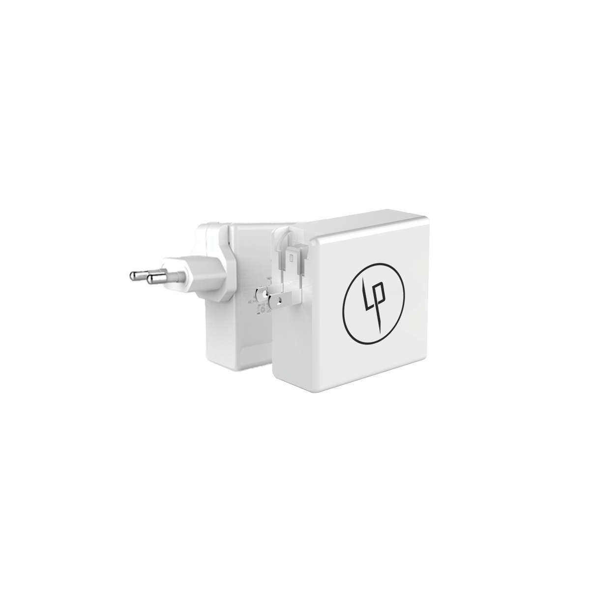 LIFEPOWR 65W USB C och QC 3,0 laddare MacBook Pro laddare