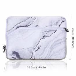 """Ärm för 13,3 """"bärbar MAC/PC i vit marmor"""