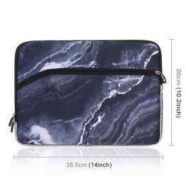 """Ärm för 13,3 """"bärbar Mac/PC i mörk marmor"""