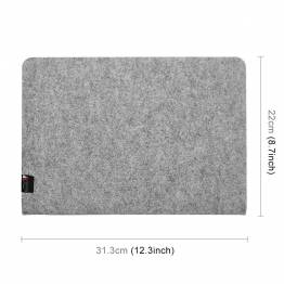 """Enkel filt fallet för MacBook Pro 13 """"ljusgrå"""
