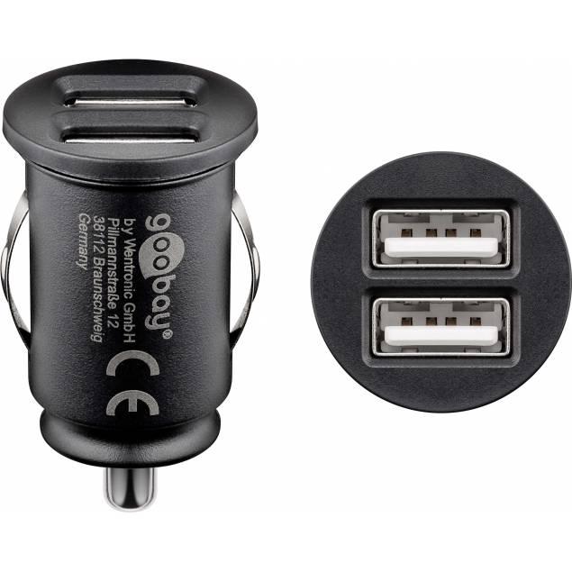 GooBay 10W dobbelt USB biloplader