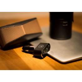 LIFEPower 96W billaddare USB-C PD & QC 3,0 USB svart