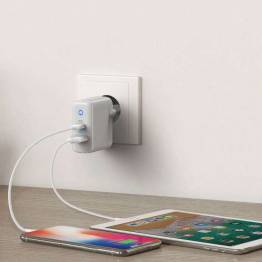 "Ankare Powerport PD + ""2"" M. 1x USB-C och 1x USB USB-laddare"