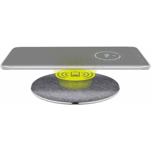Goobay snabb trådlös QI laddare pad aluminiumsilver