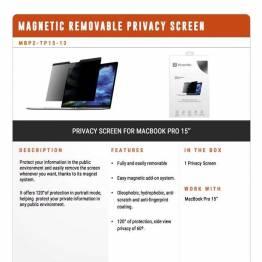 """Privacy filter glas til MacBook Pro 15"""" 2016 og frem fra XtremeMac"""