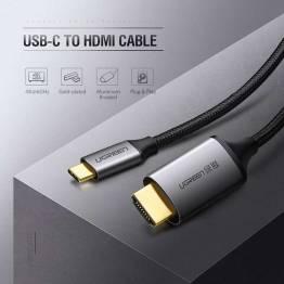 USB-C till HDMI-kabel i grått på 1, 5M Ugreen