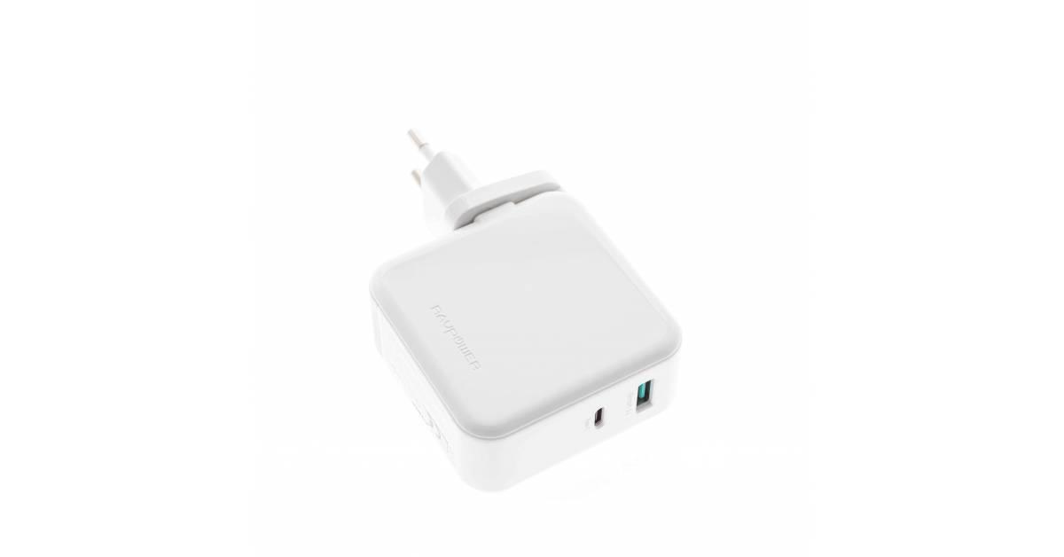 Amber Power 2 port 45W USB C PD med QC 3,0 USB en vägg