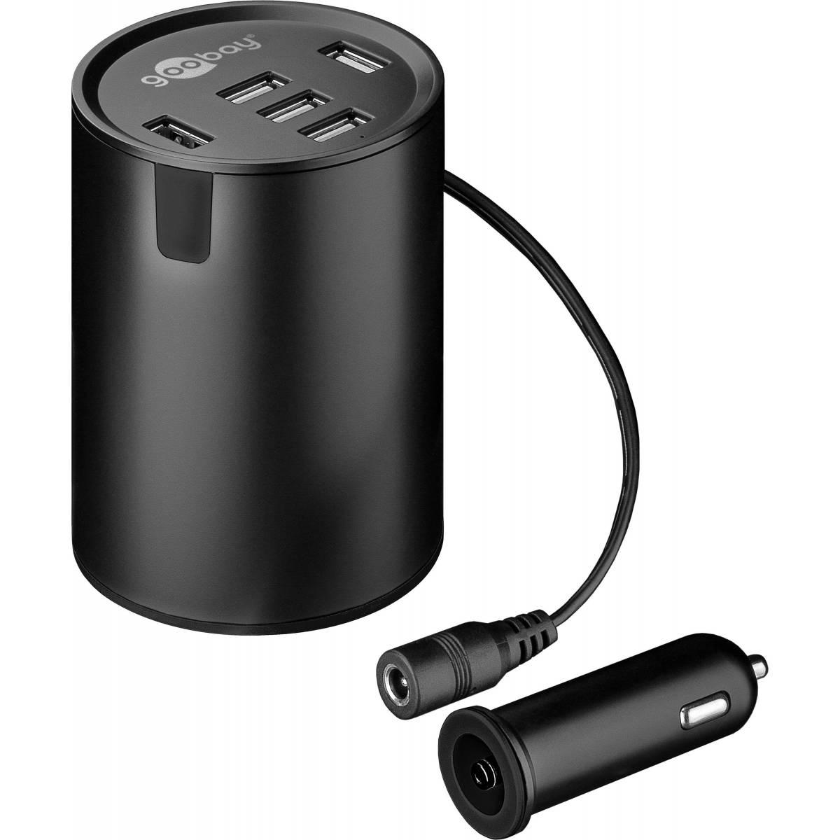 Goobay 5 portar USB billaddare (50W) den största Mackablar