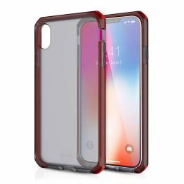ITSKINS Cover för iPhone XS Max transparent Frost Grey/Red