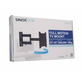 """Sinox One SOB0105 Tv vægbeslag. Sort TV størrelse: 23""""- 42"""""""