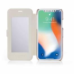 Pipetto Slim plånboks spegel för iPhone X/XS-Pink/Rose Gold