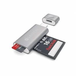 Satechi USB-C Micro/SD-kortläsare av aluminium