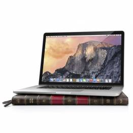 Tolv South BookBook för MacBook-klassiskt läder bokhylla för din MacBook