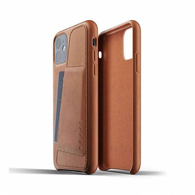 Mujjo Full læder Wallet cover for iPhone 11