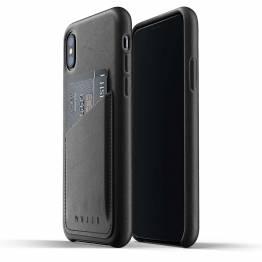 Mujjo full läder plånbok Cover-Plånboksfodral äkta läder för iPhone X/XS