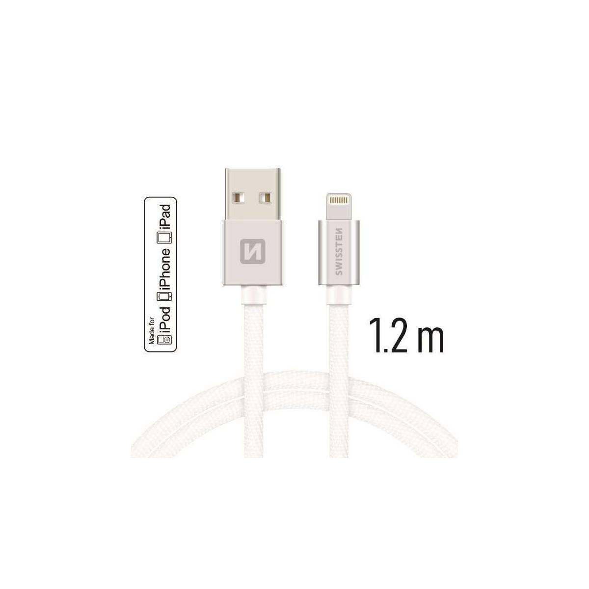 Swissten 1,2m2m MFI Lightning kabel Mackablar.se fra