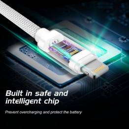 RAVPower Kevlar 0, 9m USB till Lightning MFi nylon garn kabel