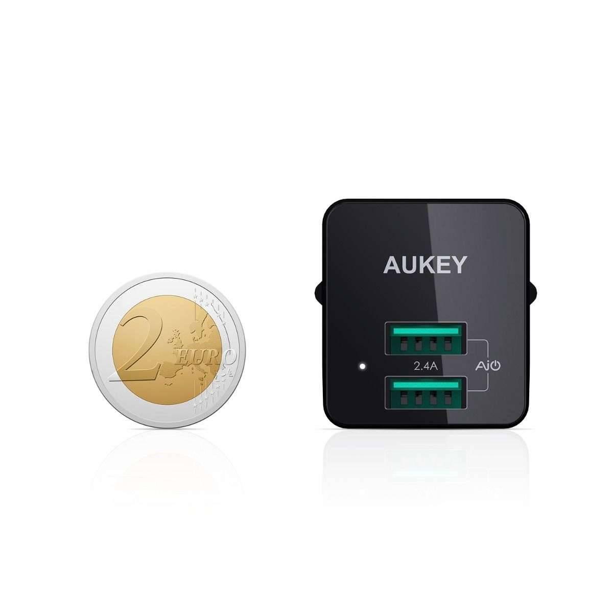 Aukey Dual USB laddare 2x USB laddare (upp till 12W)