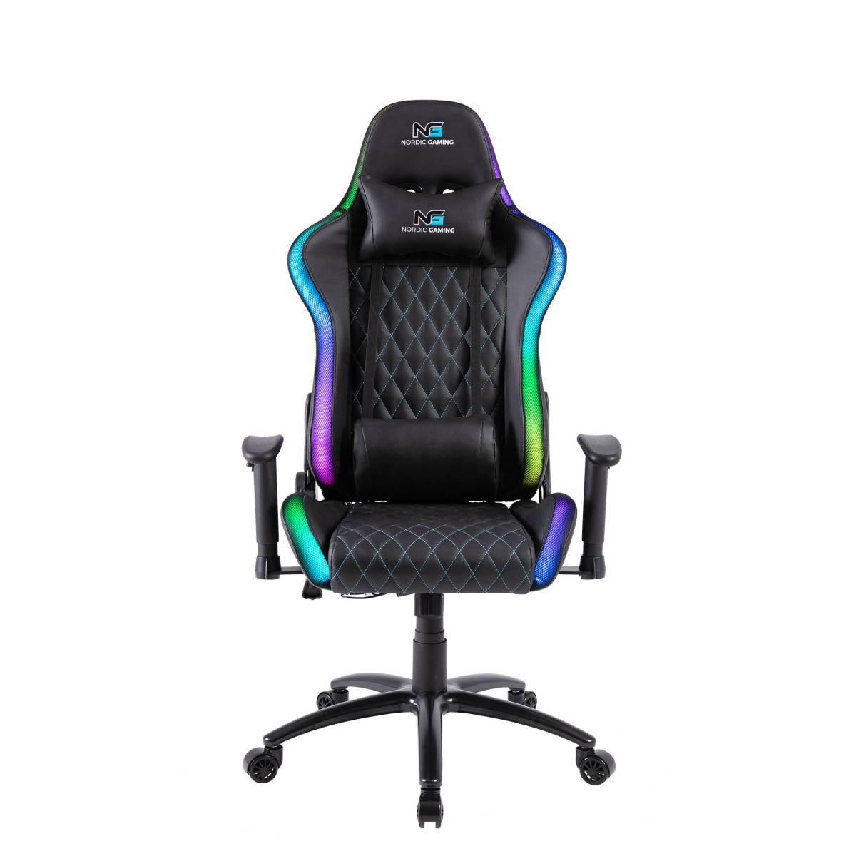 Nordic Blaster RGB Gaming Chair Black • Se priser (1