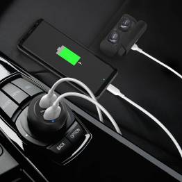 Bärnsten ström 2x USB billaddare W. 40W USB-laddning