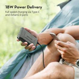 RAVPower robust 10 050 mAh Powerbank m. 18W USB-C PD
