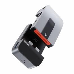 Smart USB-C 9-i-en dock m. HDMI, RJ-45, USB3.0 og thunderbolt Baseus