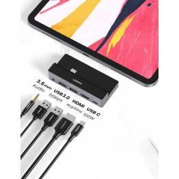 USB-C HDMI-docka (USB, HDMI och USB-C)