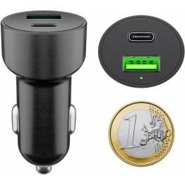 Goobay iPad/iPhone Biloplader 18W USB-C og USB