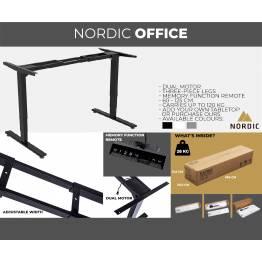 Nordic Office Hæve-sænke stel 3-leddet
