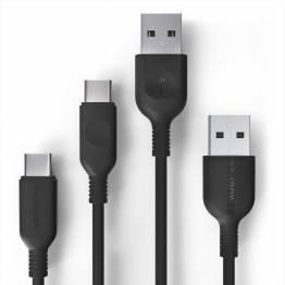 RAVPower 2 x USB-A til USB-C 2.0 kabel (0