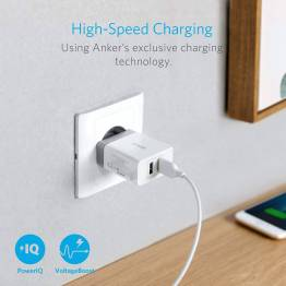 Anker PowerPort 2 USB Charger and Micro USB cable