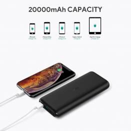 Aukey 20000 mAh powerbank with USB-C and 2 x USB-A