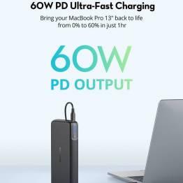 RAVPower Pioneer 20.000 mAh 60W USB-C PD + QC Powerbank