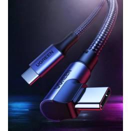 USB förlängningskabel med spricka 20cm svart