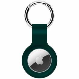 AirTag håller för nyckelring i silikon i midnight green