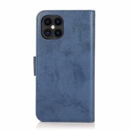 iPhone X retro plånbok omslag med magnet iPhone-hållare