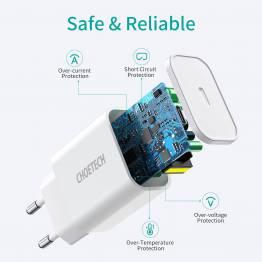 Choetech iPad/iPhone 20W laddare med USB-C PD