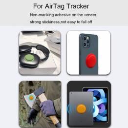 AirTag håller för nyckelring i silikon i svart
