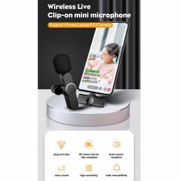 Trådlöst mikrofonklämma med USB-C