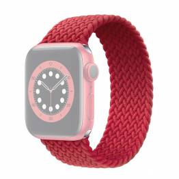 Apple Watch flätat band 42/44 mm - Small - röd