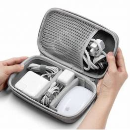 Väska till kablar och laddare - grå
