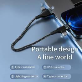WiWU Platinum USB / USB-C för Lightning och USB-C datakabel 60W - 1,2m